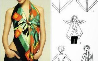 Как из платка сделать блузку