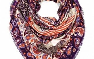 Как завязать большой платок