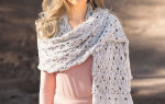 Ажурный шарф спицами схемы и описание