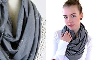 Как сшить шарф