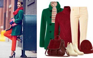 Зеленое пальто, какой шарф подойдет?