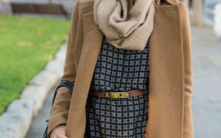 Как красиво повязать платок на шею на пальто