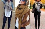 Как красиво завязать шарф на шее поверх куртки