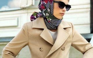 Как завязать красиво платок зимой на голову