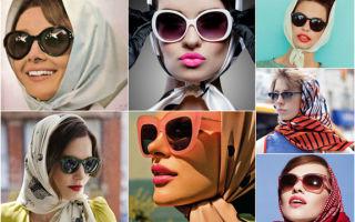 Как завязать красиво на голове платок