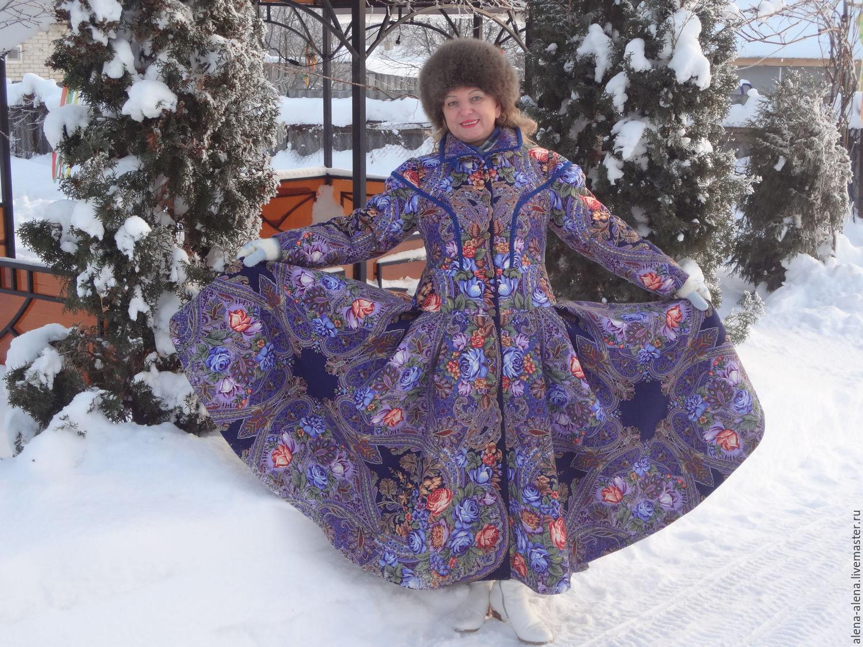 5c0cbcb889e Одежда из павлопосадских платков - фото и описания