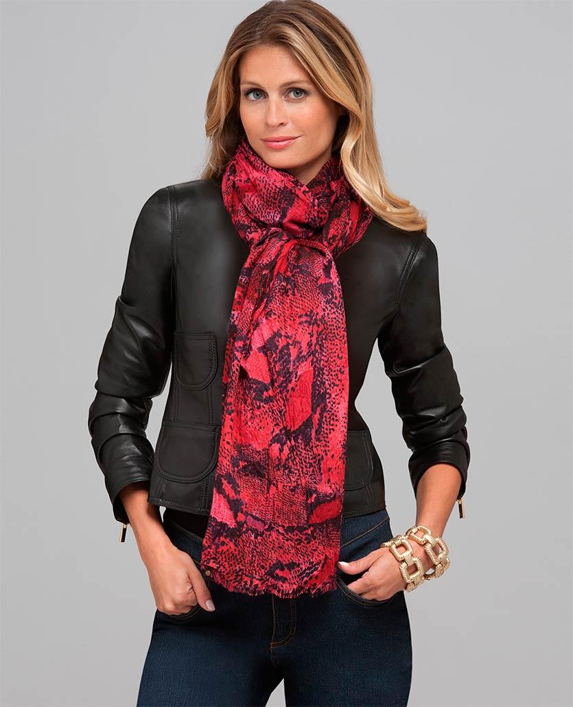 наконец ещё как носить шарф на куртке фото элегантного