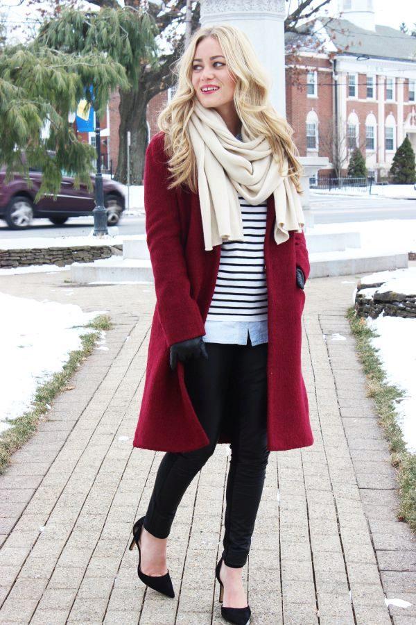 этих слов шарф к красному пальто фото намерен