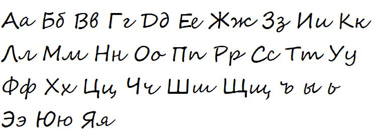 Изогнутые буквы
