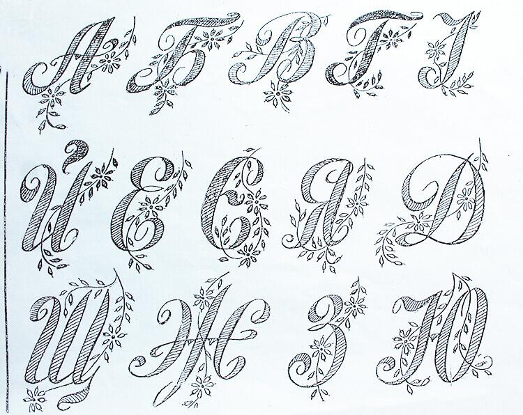 Буквы с цветочными элементами